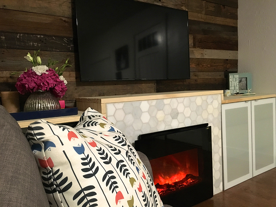 DIY: Living Room Makeover | DIY Fireplace
