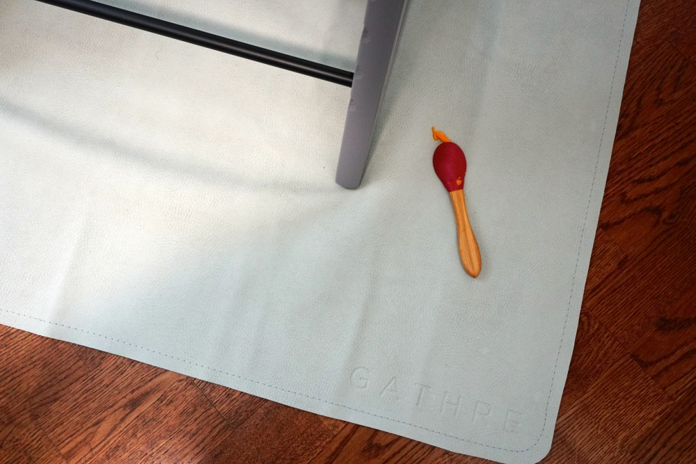 Mason's First Food Made Easier with Gathre Floor Mat