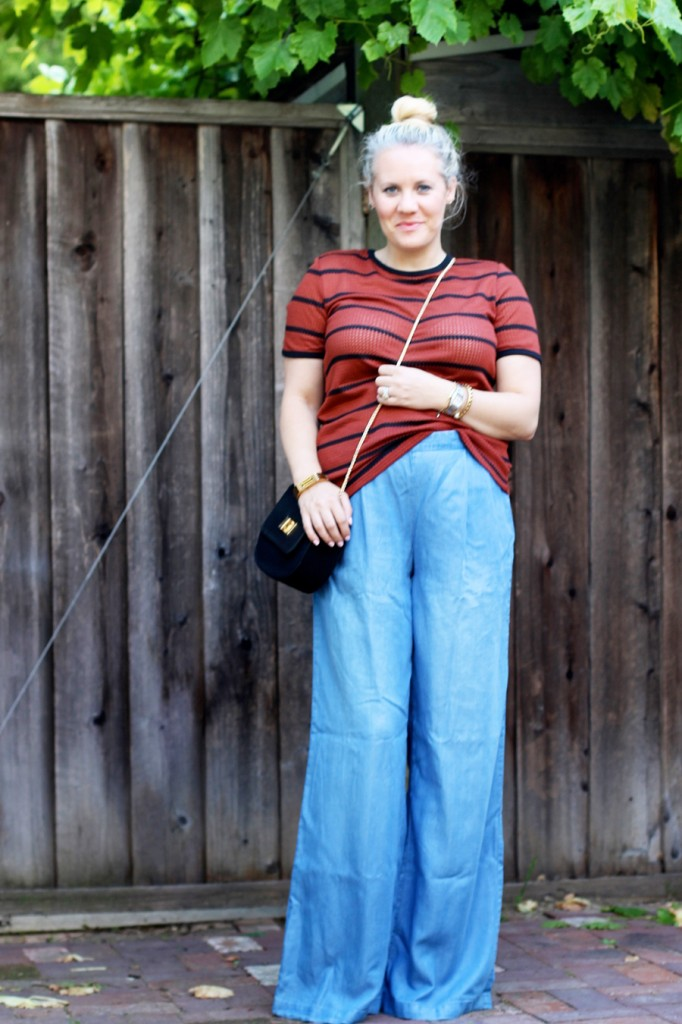 Memorial Day Outfit-Target Style-Who What Wear for Target-Maternity Style-Chambray Wide leg Pants-Have Need Want 4