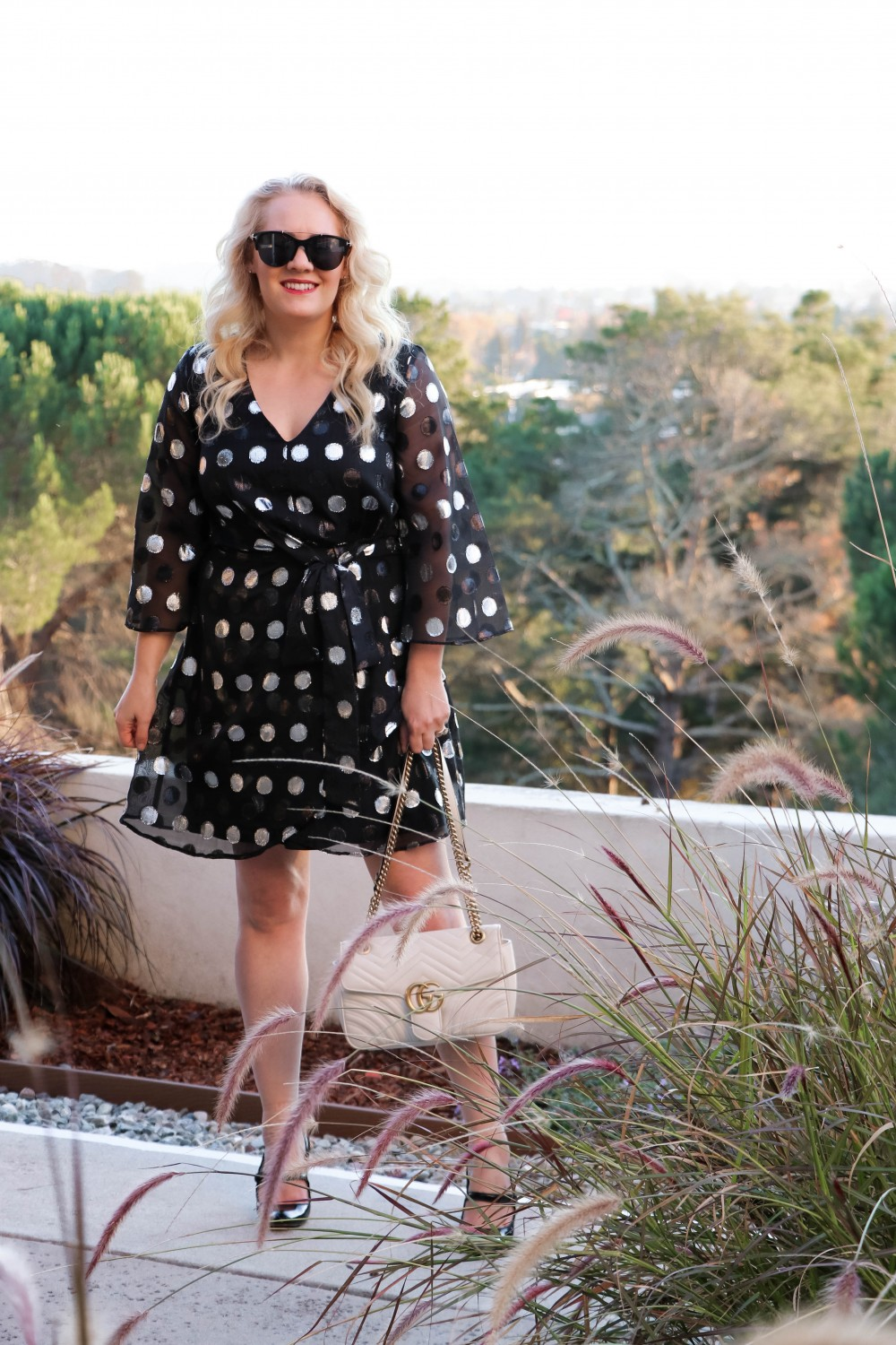 Metallic Polka Dot Mini Dress for New Years Eve | Have Need Want #NYEStyle #NYEDress #NewYearsEve #HolidayStyle #PartyDress