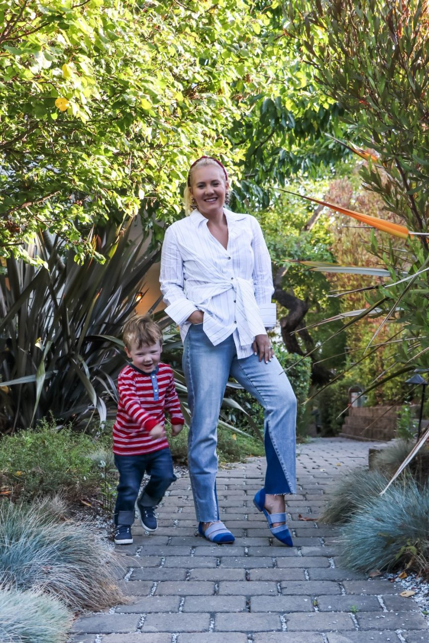 Wearing Mommy Son Coordinating Outfits for Fall With Nordstrom Rack and Haute Look on Have Need Want today! Click on over to the post to check it out and see some of my other fall favorites that are currently on sale! #ad #nordstromrack #hautelook #stylinity #fallfashion #mommysonstyle #mommysonoutfits #mommysoncoordinatingoutfits
