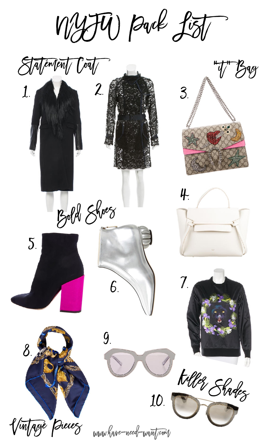 NYFW Pack List with The RealReal-Pieces to Elevate Your NYFW Looks-Have Need Want-Outfit Inspiration