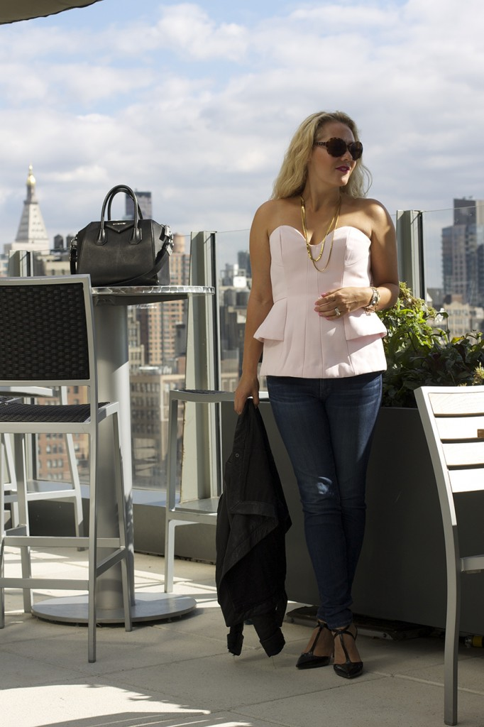 NYFW findersKEEPERS Bustier Lookmazing who wore it best contect New York Skyline Givenchy Nine West t-strap heels Fashion Blogger Have Need Want
