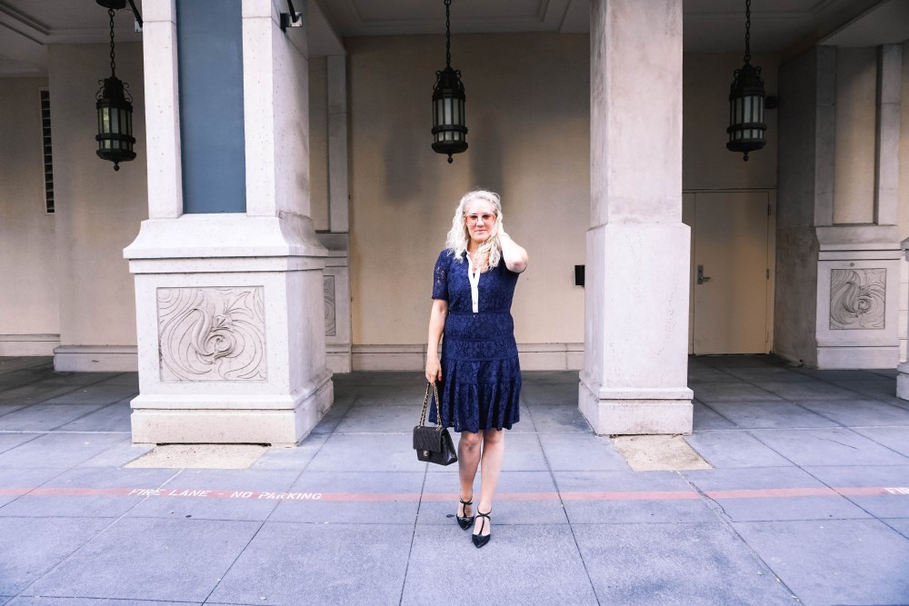 Navy Lace Dress-Draper James-Outfit Inspiration-Santana Row-Draper James Dress-Have Need Want 15