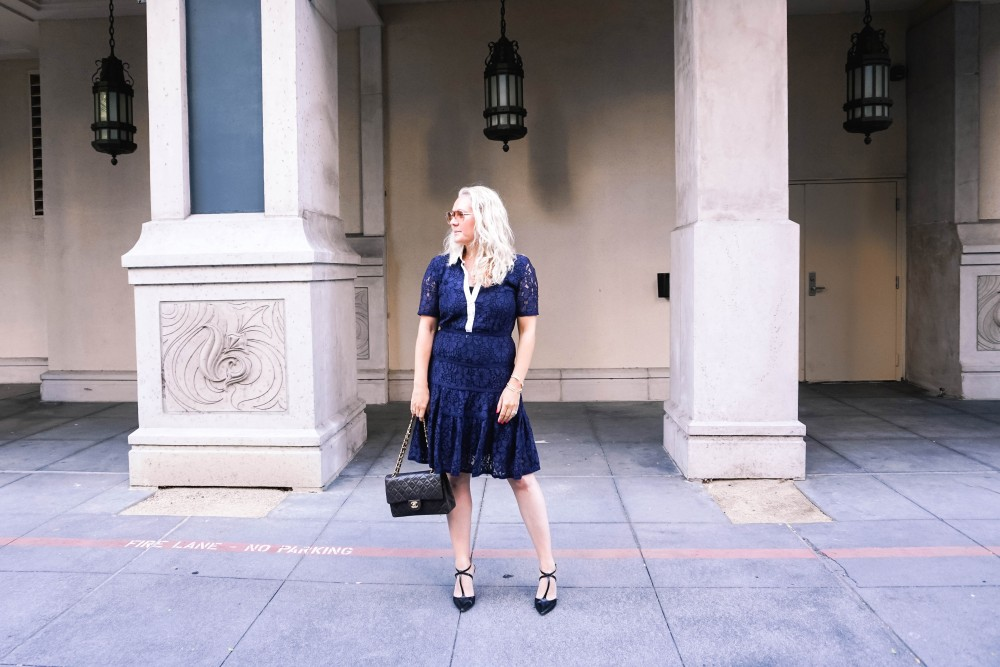 Navy Lace Dress-Draper James-Outfit Inspiration-Santana Row-Draper James Dress-Have Need Want 2