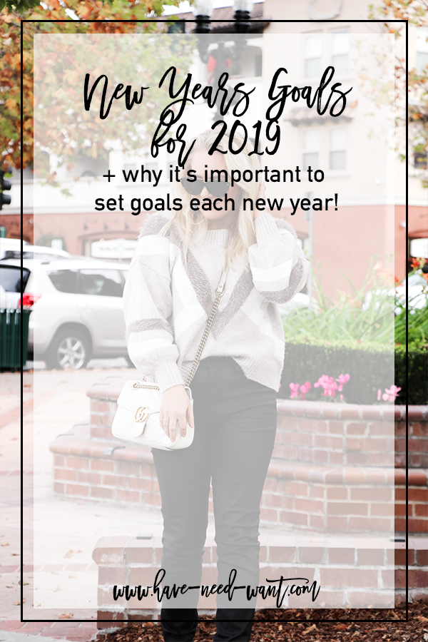 New Years Goals for 2019 and Why It's Important to Set Goals Each New Year   Have Need Want #NewYear2019 #NewYearsGoals #NewYearsResolutions