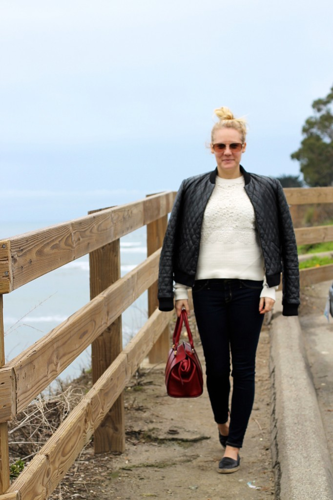 Nicole Miller-Leather Bomber Jacket-Off Duty Style-Outfit Inspiration-Have Need Want-Bay Area Fashion Blogger-Fashion Blog-Santa Cruz-Weekend Outfit Inspiration-Tibi Sweater 6