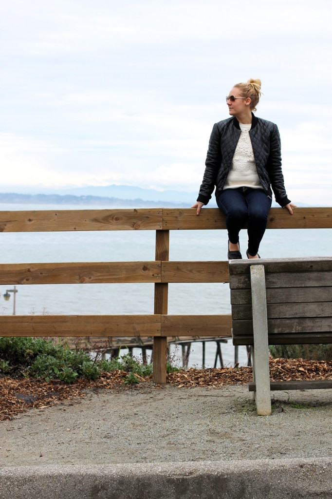 Nicole Miller-Leather Bomber Jacket-Off Duty Style-Outfit Inspiration-Have Need Want-Bay Area Fashion Blogger-Fashion Blog-Santa Cruz-Weekend Outfit Inspiration-Tibi Sweater