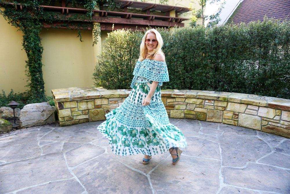 Off The Shoulder Maxi Dress-Temperley London-Outfit Inspiration-Wine Tasting-Visit Carmel by the Sea-Have Need Want 2