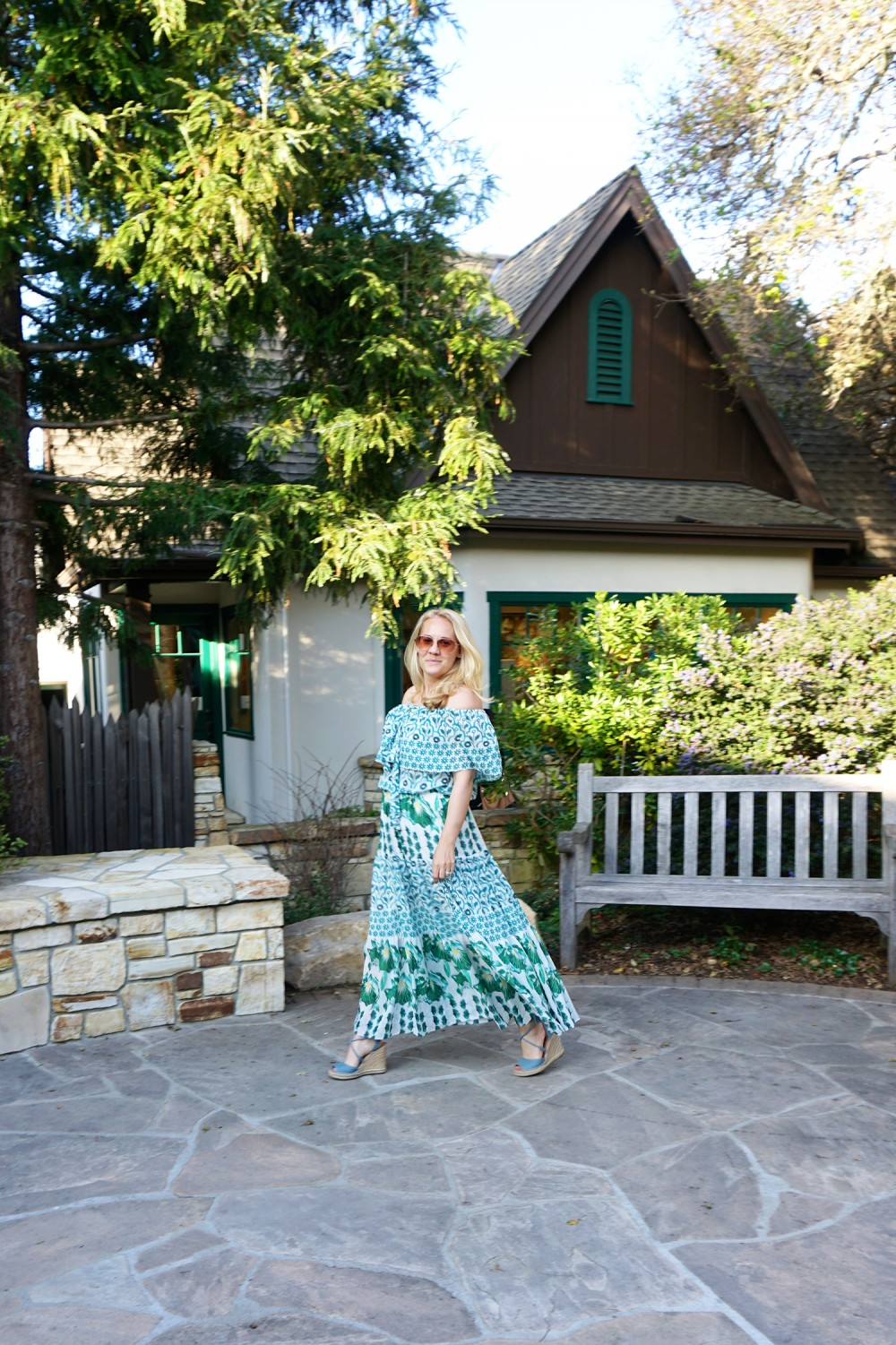 Off The Shoulder Maxi Dress-Temperley London-Outfit Inspiration-Wine Tasting-Visit Carmel by the Sea-Have Need Want