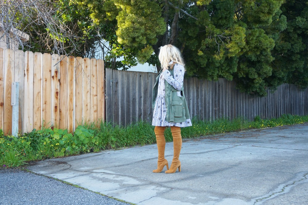 Opening Ceremony Pinstripe and Floral Shirtdress-Spring Style-Outfit Inspiration-Bay Area Fashion Blogger-Stuart Weitzman-Highland Boots-Have Need Want 12