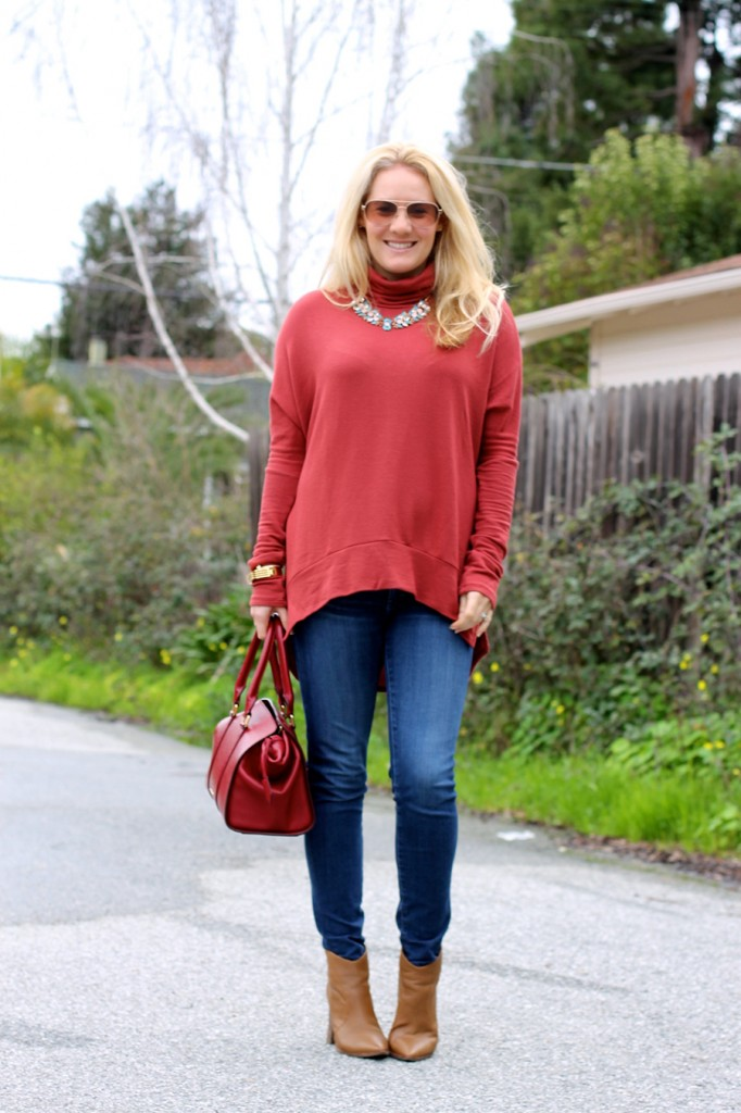 Oversized Turtleneck-Casual Style-Bay Area Fashion Blogger-Madison & Berkeley-Nordstrom-Kate Spade Sunglasses-Rocksbox-Statement Necklace 9
