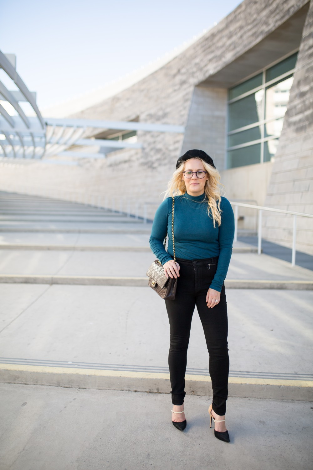 Wearing a Beret and Bow Turtleneck for a Parisian Inspired Outfit | Have Need Want