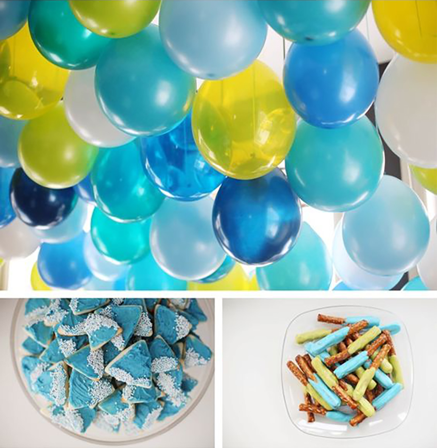 Party Planning Mason's First Birthday Party-Sticking with a color theme