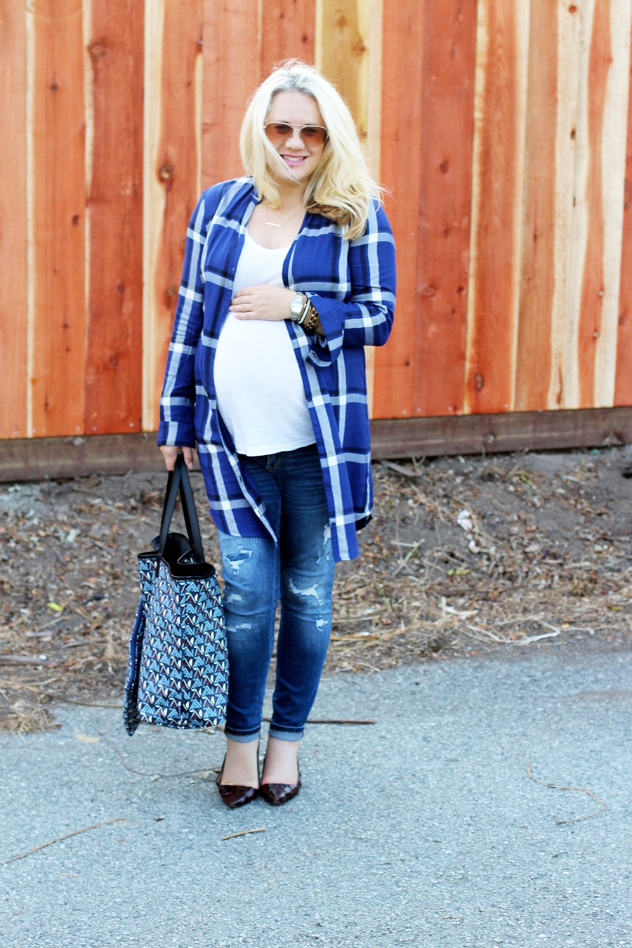 Plaid Shirtdress-Maternity Style-Styling Your Baby Bump-Styling Tips-Pregnancy Style-Have Need Want 6