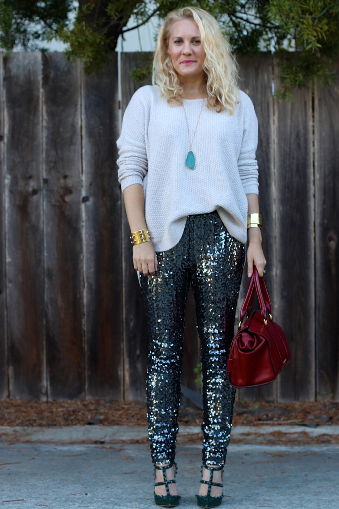 Sequin Pants-Holiday Outfit Inspiration-Have Need Want-Fashion Blogger-BB Dakota-Valentino-Burberry-Bay Area Fashion Blogger