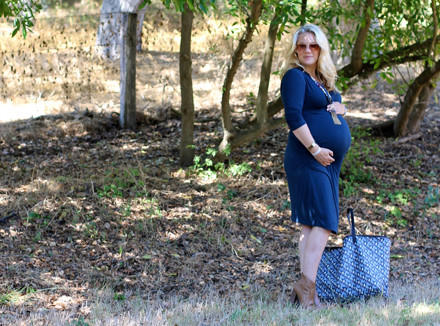 Shirred Dress-Maternity Style-Fashion Blogger-Stella & Dot-Fall Style-Pregnancy Style 12