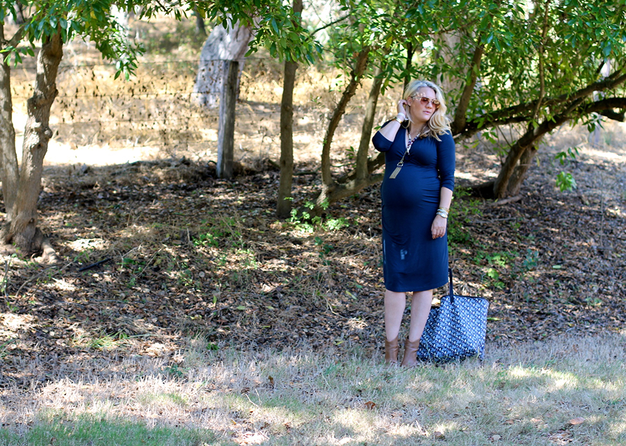 Shirred Dress-Maternity Style-Fashion Blogger-Stella & Dot-Fall Style-Pregnancy Style 3
