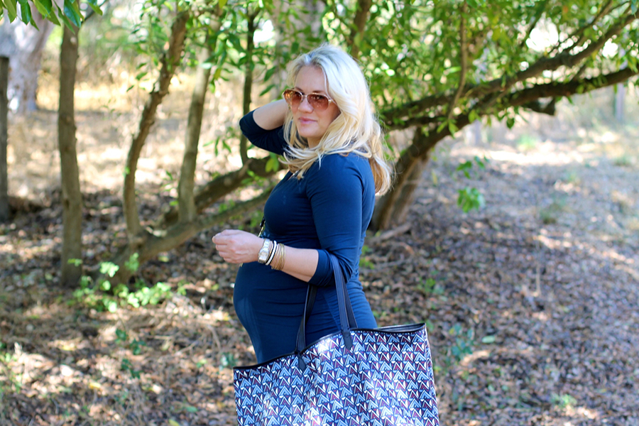 Shirred Dress-Maternity Style-Fashion Blogger-Stella & Dot-Fall Style-Pregnancy Style 8