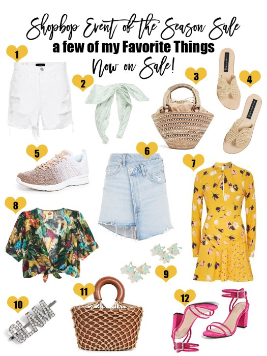 Sharing a few of my favorite things that are included in the Shopbop Event of the Season Sale! Click on the photo to check out the post, get direct links to shop, and get more info about the sale and some more items included that I own and love! #shopbop #eventoftheseasonsale #salealert #shopbopsale #springstyle #summerstyle #tropicalvibes #itbags