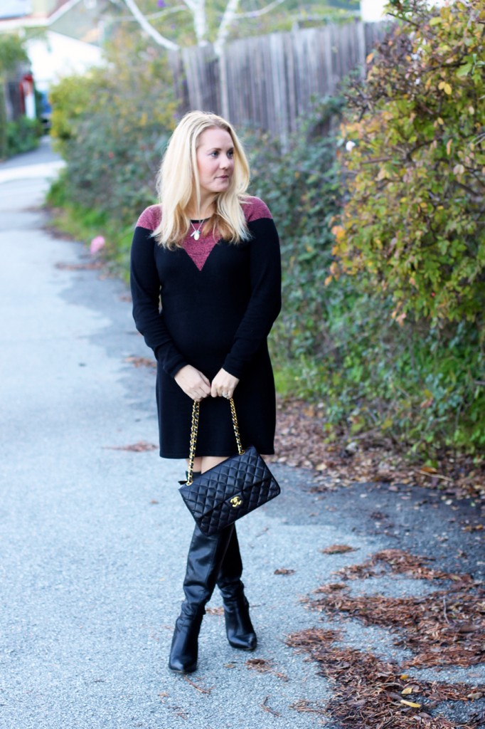 Skunkfunk-Sweater Dress-Bay Area Fashion Blogger-Outfit Inspiration-Sweater Weather-Have Need Want-Chanel Handbag 4