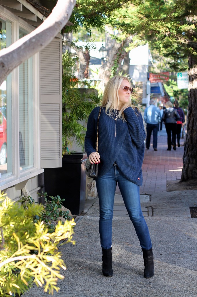 Skunkfunk USA-Cross front sweater-Bay Area fashion blogger-Have Need Want blog-Outfit inspiration-Sweater Weather-Chanel Handbag-Manolo Blahnik Boots-House of Harlow necklace 7