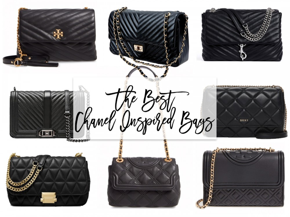 The best Chanel designer inspired bags that are budget friendly and look super cute! #lookforless #designerinspired #chanel #classicflap