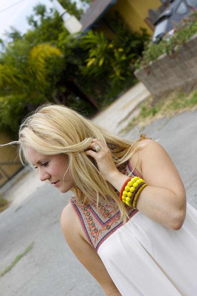 The Mint Julep Boutique Embellished Dress Flowy Dress Fashion Blogger Outfit Inspiration Summer Dress 2