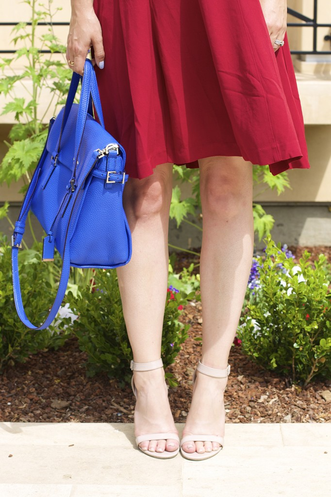 Theory Dress Lizzie Fortunato Kate Spade Handbag Fashion Blogger 4th of July Style Red White and Blue Outfit Inspiration 2