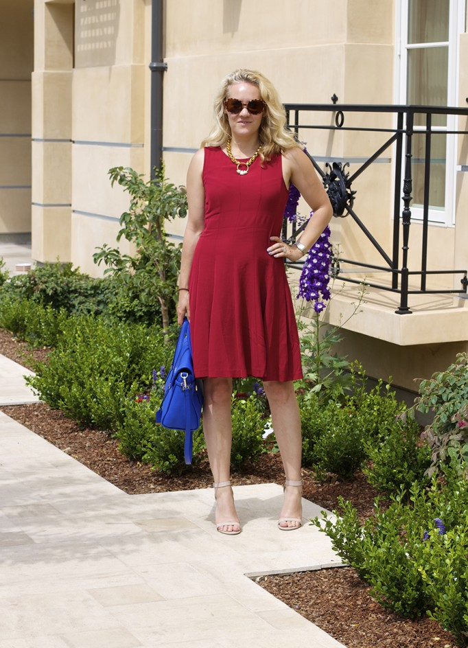Theory Dress Lizzie Fortunato Kate Spade Handbag Fashion Blogger 4th of July Style Red White and Blue Outfit Inspiration 4