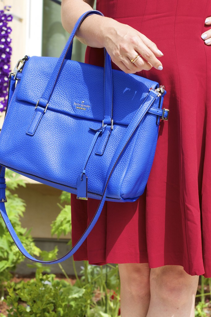 Theory Dress Lizzie Fortunato Kate Spade Handbag Fashion Blogger 4th of July Style Red White and Blue Outfit Inspiration 8