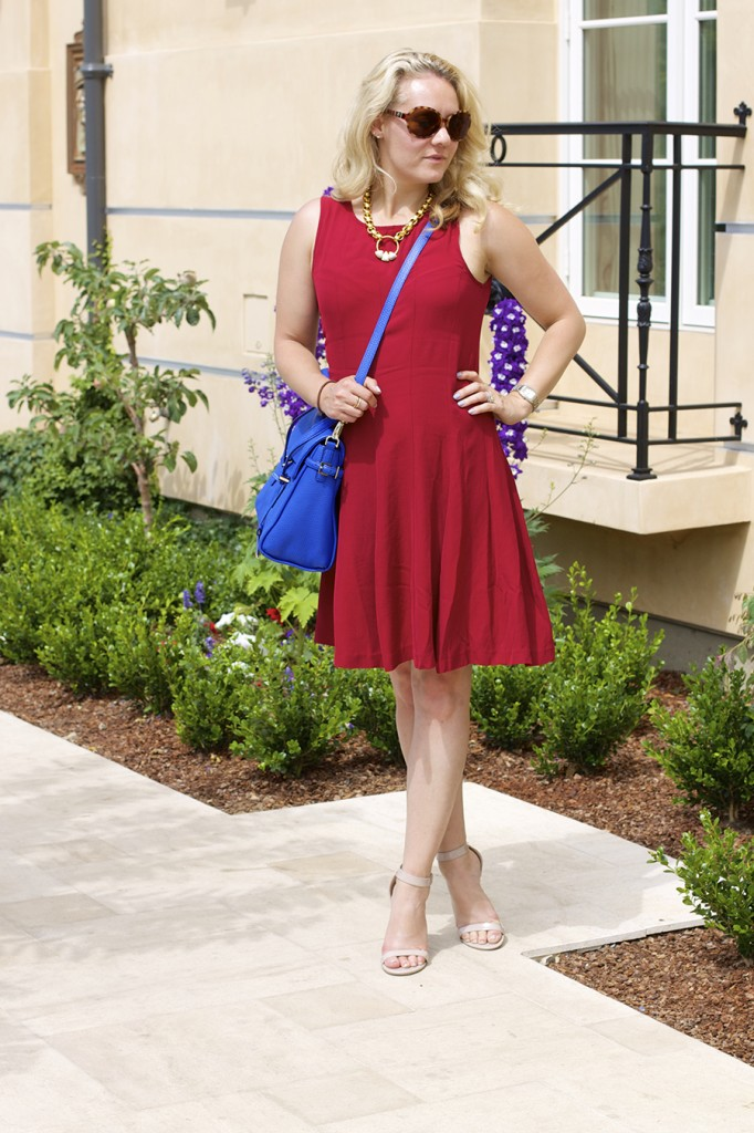 Theory Dress Lizzie Fortunato Kate Spade Handbag Fashion Blogger 4th of July Style Red White and Blue Outfit Inspiration 9