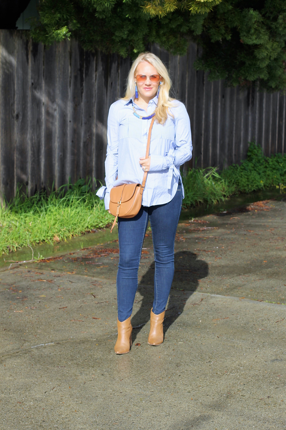 Tie Up Sleeve Blouse-Tibi Stripe Button Down-Outfit Inspiration-Have Need Want 3