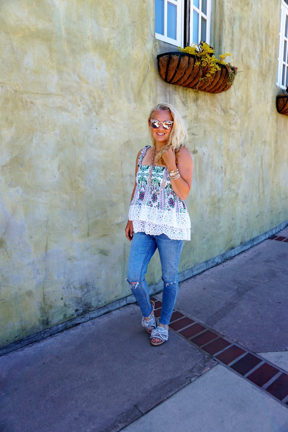Tiered Babydoll Top-Lace Trim Silk Georgette Top by Tory Burch-Spring Outfit Inspiration-Bay Area Fashion Blogger-Weekend Style-Have Need Want 4