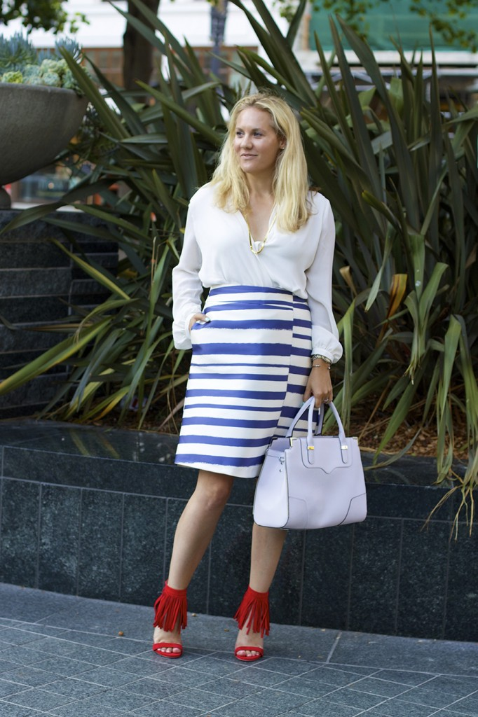 Top Shop Patriotic Outfit Red White and Blue Outfit Inspiration Nordstrom 5