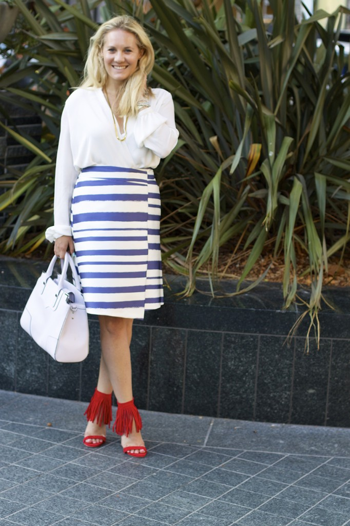 Top Shop Patriotic Outfit Red White and Blue Outfit Inspiration Nordstrom 7
