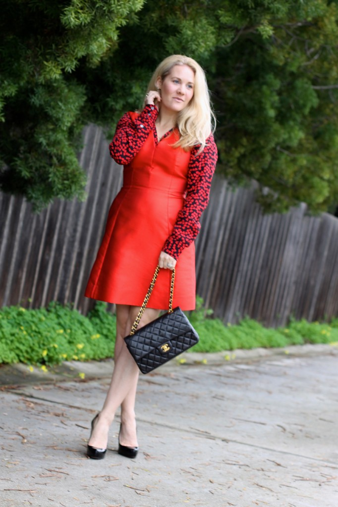 Valentines day date night outfit-Have Need Want-Valentines Day-Hearts and Bows-Kate Spade dress-Equipment blouse-Outfit inspiration 3
