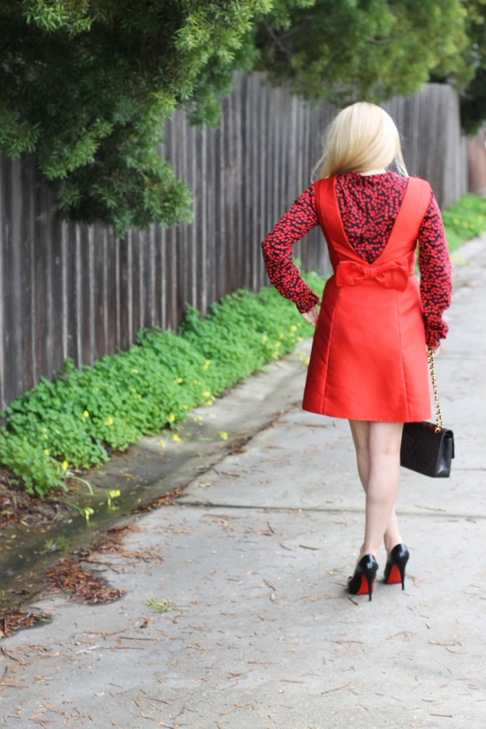 Valentines day date night outfit-Have Need Want-Valentines Day-Hearts and Bows-Kate Spade dress-Equipment blouse-Outfit inspiration 6