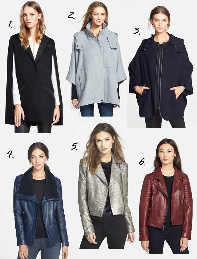 capes and colorful leather