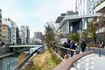 Sumida river beside Tokyo Skytree