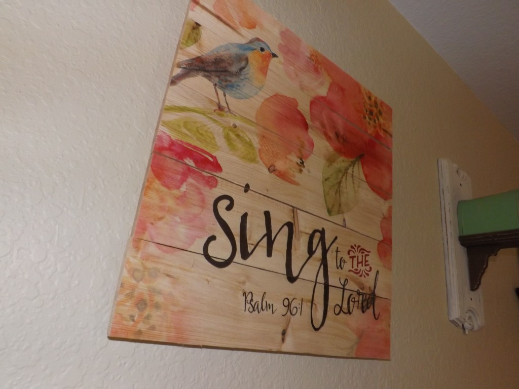 Sing to the Lord sign