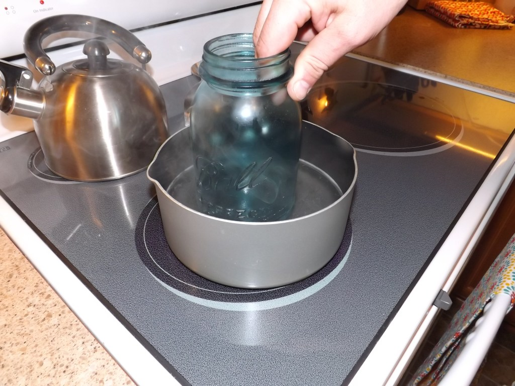 Submerge Jar in Hot Water First