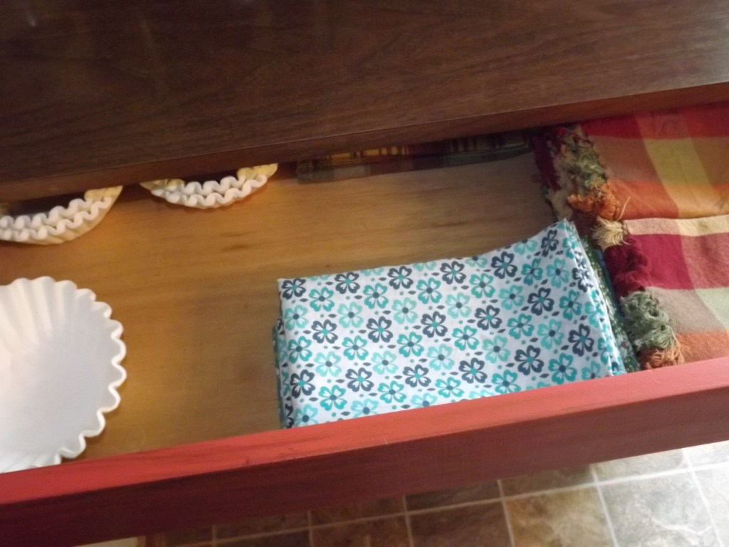 Top Drawer napkins and coffee filters