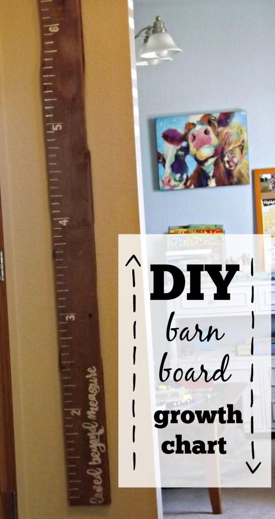 DIY Barn Board Growth Chart