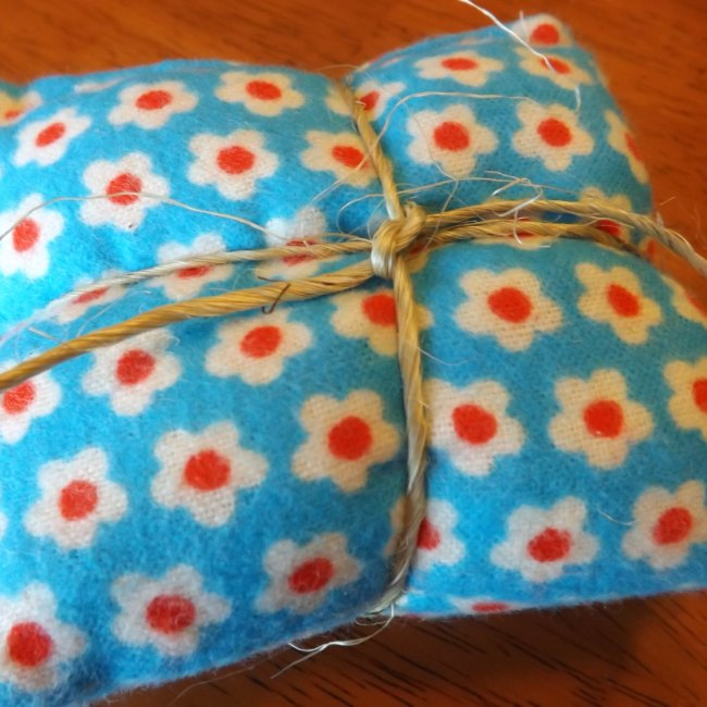 Blue Floral Pocket Rice Hand Warmers