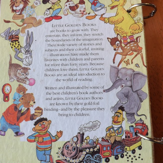 Bunnies' ABC Upcycled Little Golden Book Journal