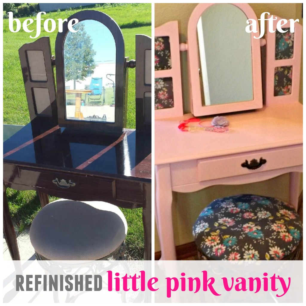Refinished Little Pink Vanity