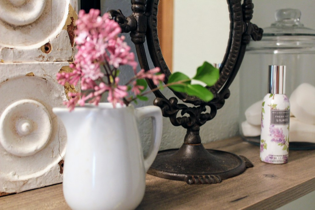 Simple & Pretty Mason Jar Bathroom Storage + Master Bathroom Makeover Reveal