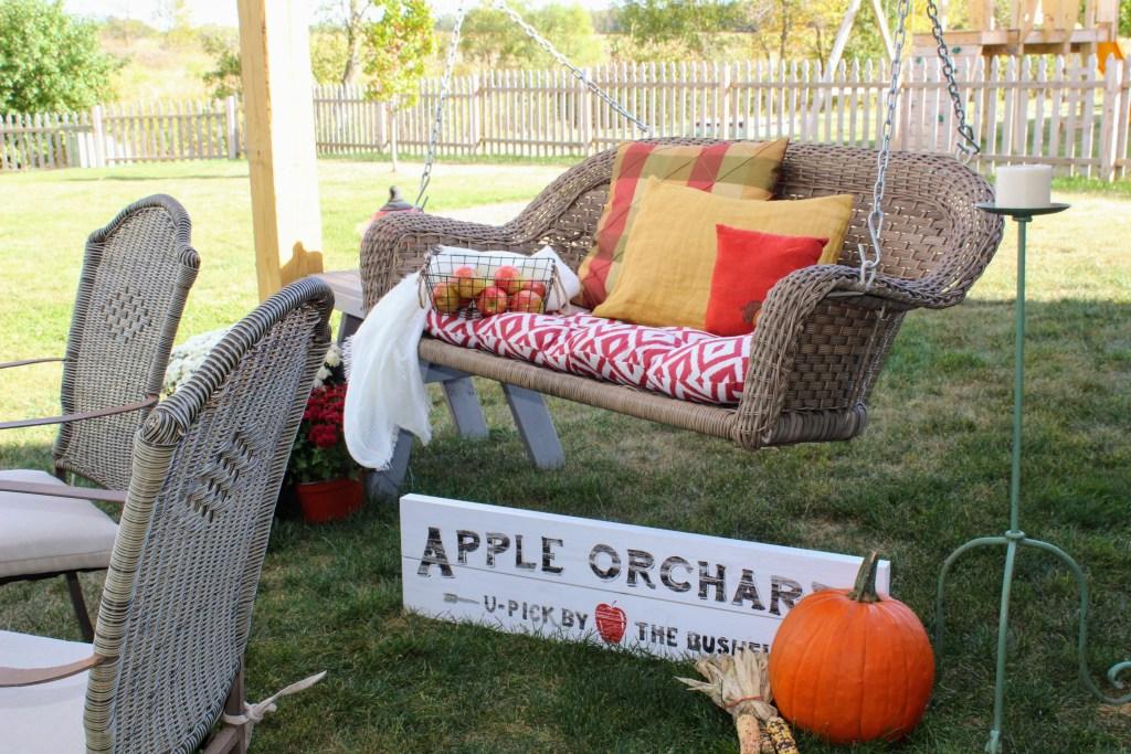 A New Pergola & a Porch Swing