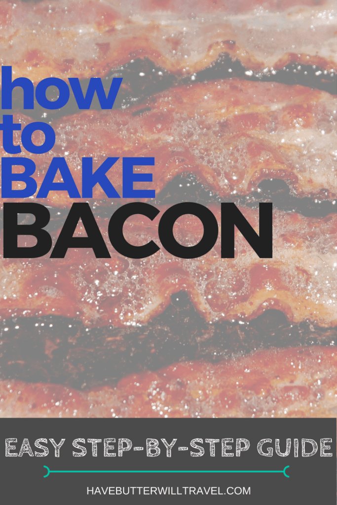 Baking bacon is an easier and cleaner way of cooking bacon. How to bake bacon is part of the Have Butter will travel 'How to' series.